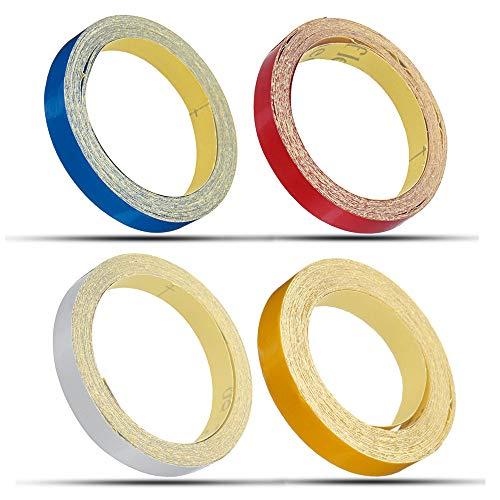 Preisvergleich Produktbild Viviance 1Cm*5M Glänzende Motorradhelm Reflektierende Dekorative Sicherheitstape DIY-Sticker-Decal Roll Strip - Blau