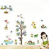 Malilove Eulen Affe Hund Baum Wand Aufkleber Für Kinderzimmer Dekoration Cartoon Zoo Wandmalerei Kunst Diy Tiere Home Aufkleber Pvc Poster