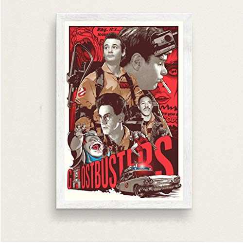 haoxinbaihuo Ghostbusters Classic Movie Kunst Malerei Silk Leinwand Poster Wand Wohnkultur 40 * 60 cm Kein Rahmen -