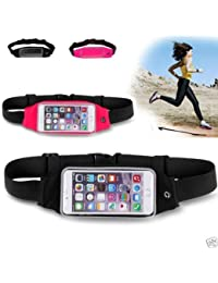 House Of Gifts Outdoor Waist Packs Bags Unisex Sport Running Waistband Travel Belt Compatible With All Mobiles...