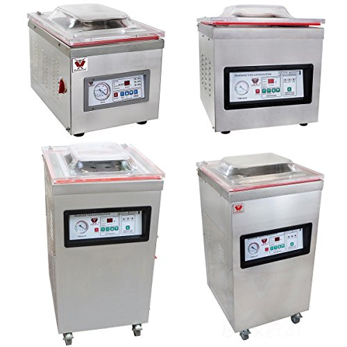 Beeketal 'D260Z' Profi Kammer Vakuumierer mit Impuls Schweißleiste, elektronisch gesteuertes Vakuumiergerät mit 15m³/h Absaugvolumen und integriertem Impuls Folienschweißgerät, Tischgerät