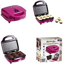 2in1Muffin de Maker y Brownie de Maker (Cup Cake Maker, Back dispositivo con placas intercambiables, revestimiento antiadherente, 700W, Muffin molde de)