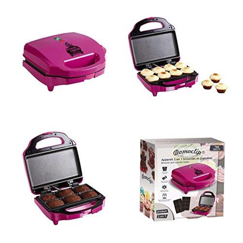 2in1 Muffin-Maker und Brownie-Maker (Cupcake Maker, Backgerät mit austauschbaren Platten, Antihaft-Beschichtung, 700 Watt, Muffin-Backform)
