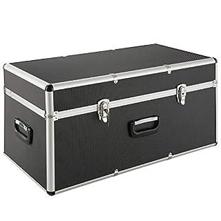 Arebos Coffre de Transport/Boîte en Aluminium / 100L / Verrouillable/avec 3 Poignées de Transport