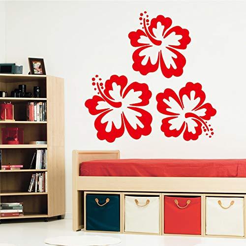 yiyiyaya Belle Fleur Vinyle Papier Peint Rouleau Meubles Décoratif pour La Décoration De La Chambre Décoration Autocollant Décor À La Maison Rouge 58 cm X 57 cm