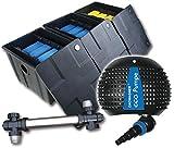 Filter Set Bio Teichfilter CBF3 + Teichpumpe Z4500 + UVC 55 Watt Edelstahl