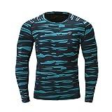 MEIbax Herren Fitness T-Shirt langärmlig Funktionsshirts Langarm Sweatshirts Fitness Sweatshirt Sport Gymnastik Laufende(Grün,4XL)