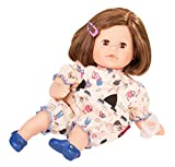 Götz 1716062 Cosy Aquini Wonderland Badepuppe - Puppe mit braune Haare, braune Schlafaugen - 6-teiligen Set - 33 cm Mädchen-Babypuppe