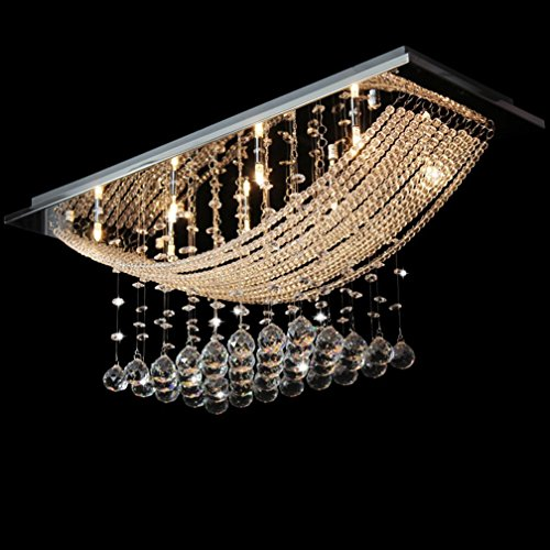 Kronleuchter Echtkristallglas Effekt Tröpfchen Perlen-Kristall Deckenleuchte Kerzenständer SD 105 (Hohe Kamin Decken,)