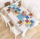WJYdp Ethnische Art Der Rechteckigen Tischdeckenweinlese