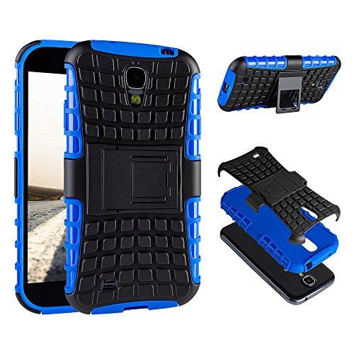 ECENCE Handyhülle Schutzhülle Outdoor Case Cover kompatibel für Samsung Galaxy S4 Mini I9190 I9195 I9192 Duos Handytasche Blau 21030306