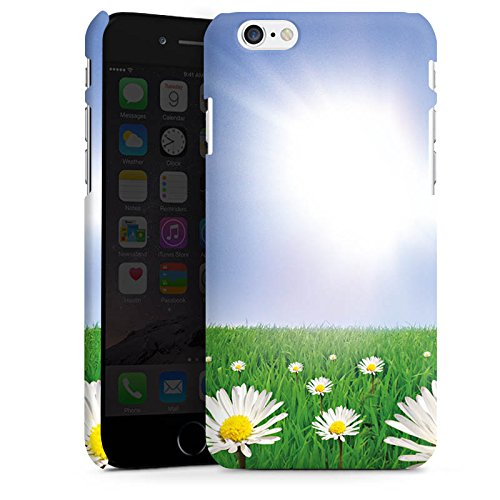 Apple iPhone X Silikon Hülle Case Schutzhülle Gänseblümchen Blumenwiese Sonne Premium Case matt