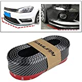AutoTrends SAMURAI Carbon Fiber Car Body Kit Bumper Lip Side Skirt Rubber Edge Decorative Protector