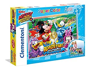 Clementoni 25457 Mickey and The Roadster Racers Suelo Puzzle, 40 Piezas