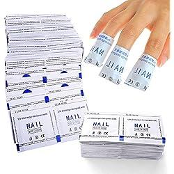 ewinever(R) 200 piezas Gel Polaco removedor envolturas Sencillo Frustrar Arte de uñas Limpiador W/ Acetone