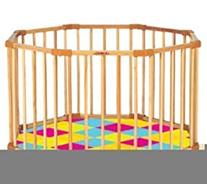 combelle parc octogonal avec fond pliant tapis confort. Black Bedroom Furniture Sets. Home Design Ideas
