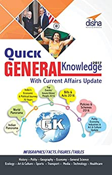 Quick General Knowledge 2017 with Current Affairs update by [Disha Experts]
