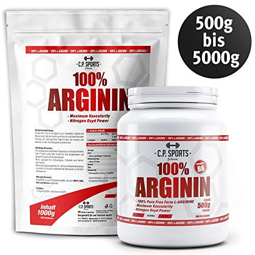 100% Arginin mit Vitamin B6 C.P. Sports