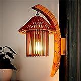 BIDENG Natürliche Bambuskunstwandlampe, Bambusmöbel, Südostasien, Gangart-Wandlampe 36CM * 26CM * 50CM