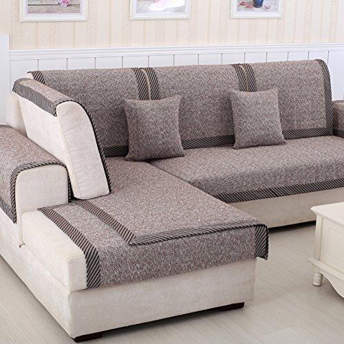 Copridivano in cotone,asciugamano di lino a righe multiuso antiscivolo morbido divano coperture nordic stile decorativi mobili protector componibile divano copre tiri -b 50x70cm(20x28inch)