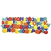 Chenille Kraft 9078 60-Piece mixed sponge set, 3 high letters/numbers/shapes