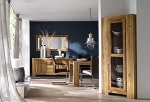 atlanta eckvitrine nr 12 massives wild eiche ge lt. Black Bedroom Furniture Sets. Home Design Ideas