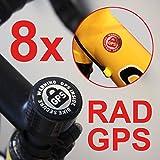 8x RAD GPS INSIDE AUFKLEBER FAHRRAD SICHERUNG BIKEFINDER TRACKER BIKE SECURE RENNRAD MTB BICYCLE TRACKER DIEBSTAHLSICHERUNG ANTI THEFT WARNING STICKER SET