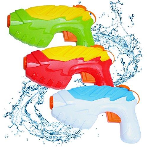 le Wasser Soaker Squirt Pistole für Wasser Kampf Super Soaker Wasserpistole für Kinder Heißer Sommer Spielzeug für Beach Pool Verschiedene Farbe 3-Pack ()
