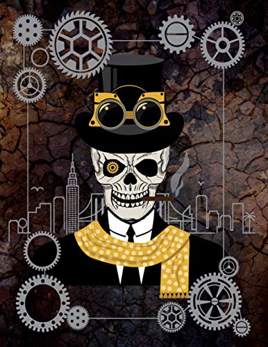 Steampunk Leroy Out On The Town - Sketchbook: White Pages With Light Grey Frames For Drawing, Doodling or Scrapbooking