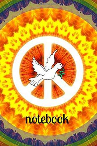 Notebook: Hippy Peace Homework Book Notepad Notebook Composition and Journal Diary por Retrosun Designs