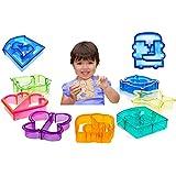 Cortador de sandwich y pan formas para niños–Set de 9corteza & cortadores de galletas, diseño de dinosaurios, elefantes, mariposas, five-pointed Star, cachorro y # xFF0C; Cuadrilátero, rompecabezas, coche, el amor