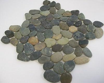 1 qm Kiesel Mosaik Fliesen Mixed Earthy von Gastromia - TapetenShop