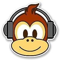 2 x Fun Monkey Vinyl Sticker iPad Laptop Car Bike Helmet Kids Skateboard #4766
