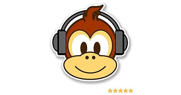 2 x Monkey Vinyl Sticker Laptop Travel Luggage #4766