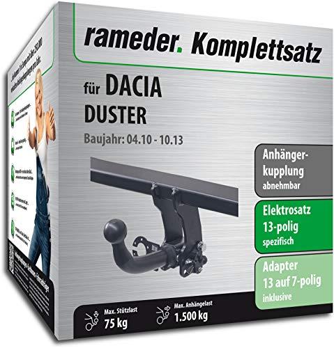 duster anhaengerkupplung Rameder Komplettsatz, Anhängerkupplung abnehmbar + 13pol Elektrik für Dacia Duster (113435-08547-1)