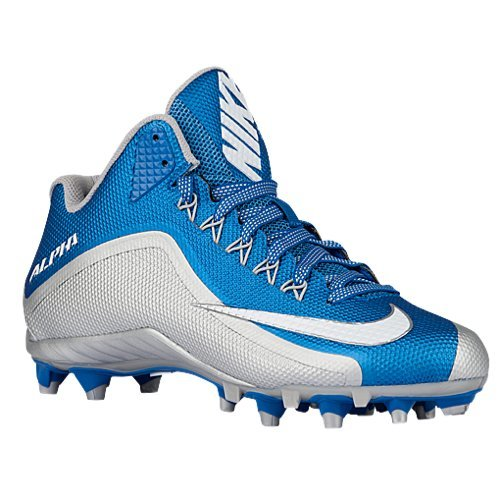 Nike Alpha Pro 2 3/4 TD PF Men's Football Cleat-Size 13 D( M )US (Battle Blue/White-Metallic Silver)