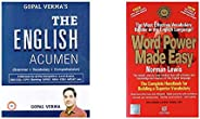 The English Acumen Grammar + Vocabulary + Comprehension + Word Power Made Easy (Set Of 2 Books)