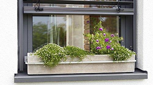Blumenkastenhalterung Fenster Blumenkastenhalter verstellbar Aluminium Druckguss -