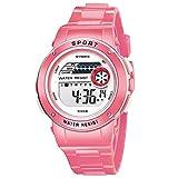 Rcool Relojes suizos relojes de lujo Relojes de pulsera Relojes para mujer Relojes para hombre Relojes deportivos,Reloj de pulsera digital impermeable LED deportivo para estudiantes a prueba de agua