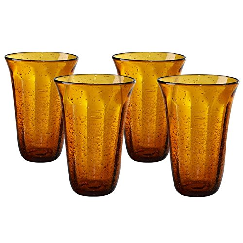 Savannah Bubble Highball Glass (Set of 4) Finish: Amber by Artland -