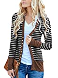 Tomwell Damen Maxi Offene Cardigan Strickjacke Asymmetrisch Strickmantel Mantel mit Tasche Kaffee DE 38