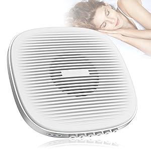 Weißes Rauschen Maschine, Yosoo White Noise Maschine Schlafhilfe mit 20 Beruhigender Geräuschen, Timer (30/60/90 Minuten), 7 Level Einstellbare Lautstärke, USB-Ladevorgang und Leicht zu Tragen, Schlaf Geräusch Maschine für Baby und Erwachsene- Weiß