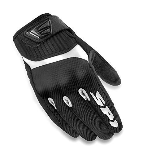 SPIDI - Guanti da Moto in Tessuto G-Flash, Nero/Bianco, L