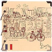 ZHAOXIANGXIANG Álbum De Viaje París Romántico Vintage Boceto De Cubierta De Álbum De ...
