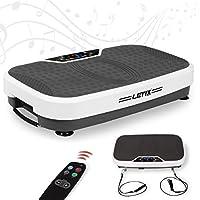 Preisvergleich für Letix Sports Profi Vibrationsplatte 300 Watt mit 2D Wipp-Vibration + Bluetooth Musik inkl. Lautsprecher, Große Standfläche, Kraftvoller Motor + Expanderbänder und Fernbedienung