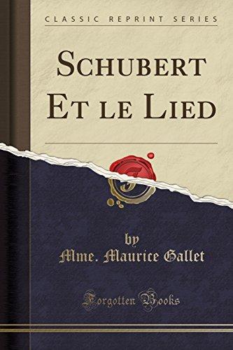 schubert-et-le-lied-classic-reprint