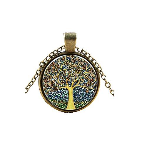 Sunnywill-Frauen-Fantasie-Nebel-Bild-Design-Antik-Bronze-lange-Kette-Halskette
