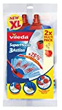 Vileda SuperMocio 3Action XL Refill, Refill Twin Pack