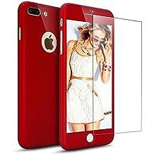 210daa85fb7 Funda carcasa Case iPhone 7 Plus 360 grados + Protector Cristal Templado,  Ukayfe Lusso funda