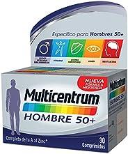 Multicentrum Hombre 50+, Complemento Alimenticio con 13 Vitaminas y 11 Minerales, para Hombres a partir de los
